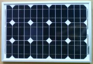 Monokrystallinske solceller