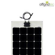 Semifleksibel solcelle Offgridtec 140W/24V til båd, campingvogn (Back-Contact)