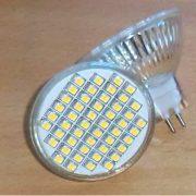 12V/48 SMD LED Pære MR16 Fatning varm/hvid