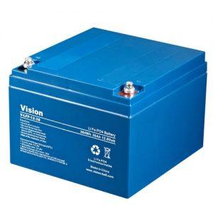 12V batterier syre, lithium, AGM, GEL
