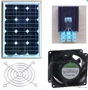 Ventilations systemer / kit med solceller