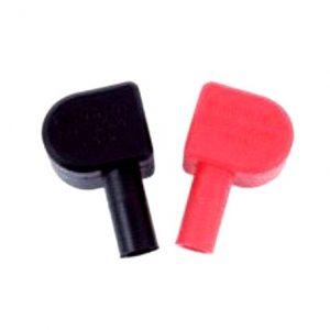 Rød og sort batteriterminal dæksler