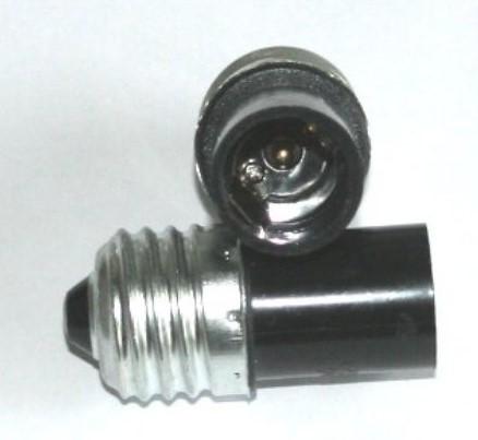 Adapter E27 til E14 - Sort