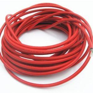 Solar kabel 10mm2, 1-led - rød