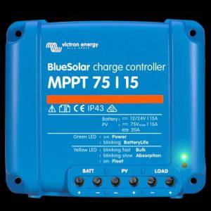 Victron BlueSolar laderegulator MPPT 75/15 12/24 Volt ( maks 75V, 15A)