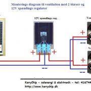 12V Spændings regulator til ventilatorer