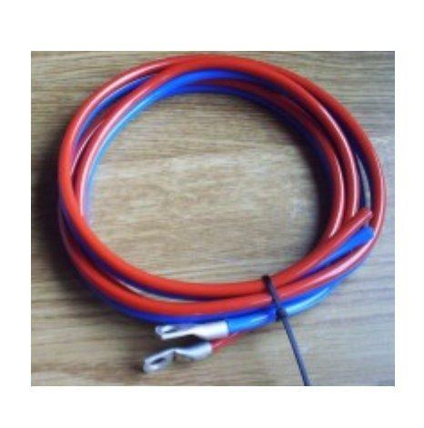 Batterikabel 2 x 6mm² - 1,5m, rød/blå