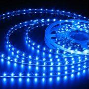 Fleksibel 60LED-bånd SMD, vandtæt lys stribe-BLÅT lys