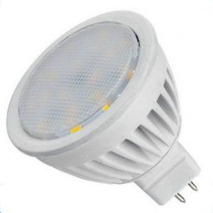 12V/4W SMD LED Pære MR16 Fatning varm/hvid