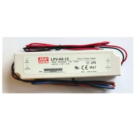 LED strømforsyning LPV-60-12V