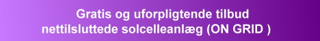 Gratis og uforpligtende tilbud solcelleanlæg til nettislutning