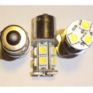 Auto LED pære, BA15S, 2W ,Varm/Hvid