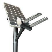 Gadebelysning med solceller