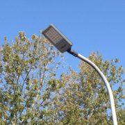 Gadelampe med LED