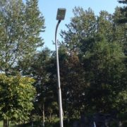 Gadelampe med ledlys