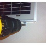 Monterings kit til 5-10W solceller