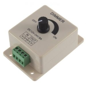 LED Light Dimmer DC 12-24V 8A