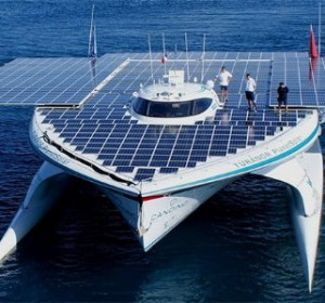 Solcelle båd