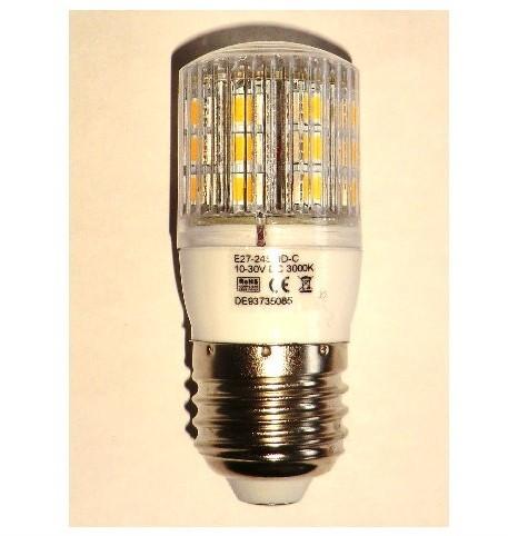 Usædvanlig E27 LED pære 12V/24V 3,8W – Solcelle.dk OI04