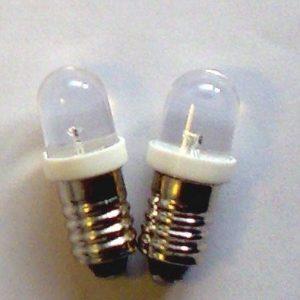 2 x E10 LED pære - 6V