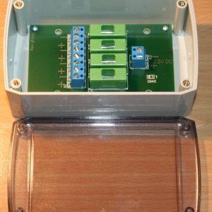 Fordelings boks med 4 sikringer - KCD4-5