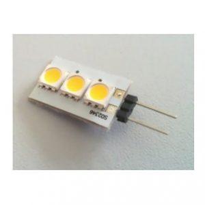 3 SMD LED G4 SPOT/0,6W-Varm/Hvid Type P