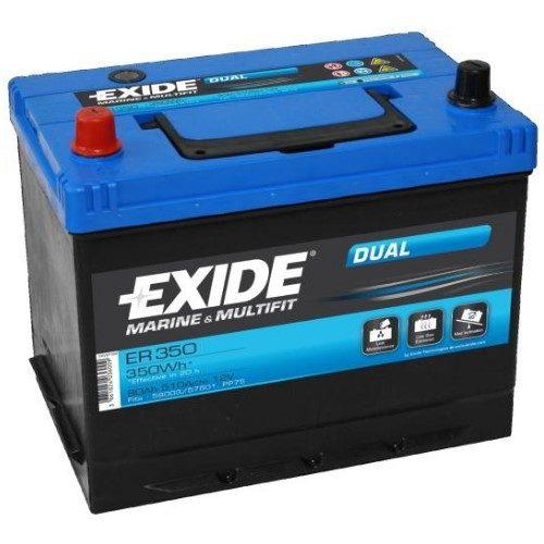 Batteri Exide Dual Marine 12v 80Ah ER350