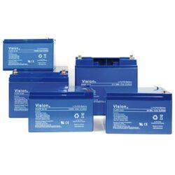 Lithium LiFePo4 batterier op til 200Ah/12V