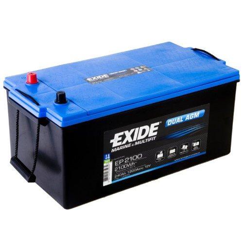 Exide AGM batteri 12V/ 240Ah EP2100