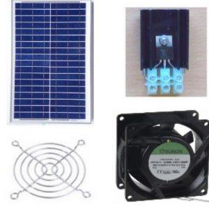 Ventilations kit med solcelle KCVP20