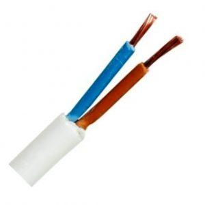 Kabel Hvid, flad HO3VVH2 2 x 0.75 mm²