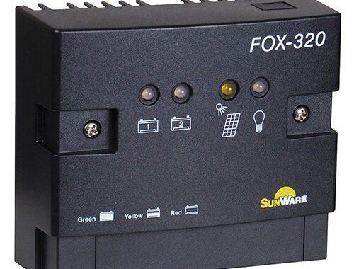 Laderegulator Sunware FOX-320 , Dual 20A/12V, 24V
