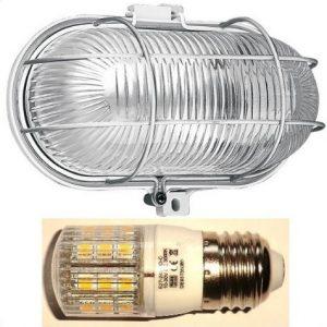 Lamper med LED pærer, lygter, projektører