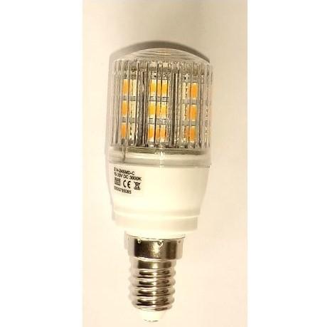 LED pære 12V/24V 3,8W E14 2700K/350lm, Varm/hvid