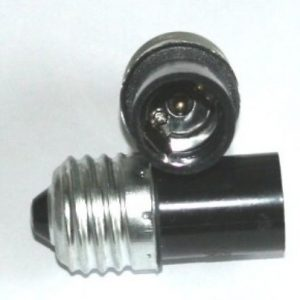 Adapter E27 til E14 - Sort