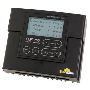 Laderegulator Sunware FOX-260, 20A/12V, 24V