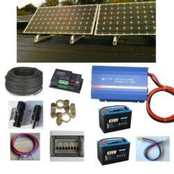 Solcelleanlæg 300-1000W til batteri drift