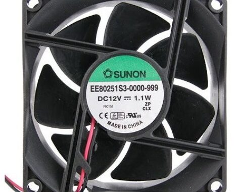 Sunon Ventilator 12V DC 80x80x25 G/ 1.1W