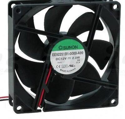 Sunon Ventilator 12V DC 92x92x25/2,0W