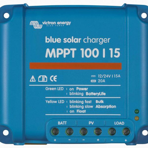Victron BlueSolar laderegulator MPPT 100/15 12/24 Volt ( maks 100V, 15A)