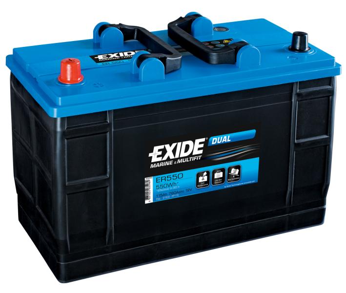 Batteri Exide Dual Marine&Multifit 12v 115Ah ER550