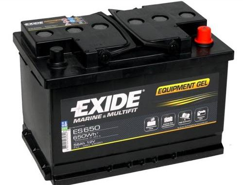 Exide EQUIPMENT Gel Batteri ES650 12V 56Ah