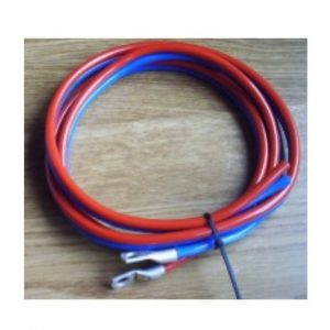 Batterikabel 2 x 6mm² - 1,5m, rød/blå