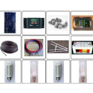 Solcelleanlæg 60-300W OFF-Grid til batteridrift