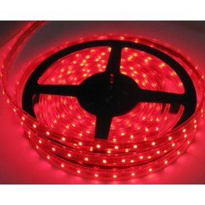 Fleksibel 60LED-bånd SMD, vandtæt lys stribe-RØDT lys
