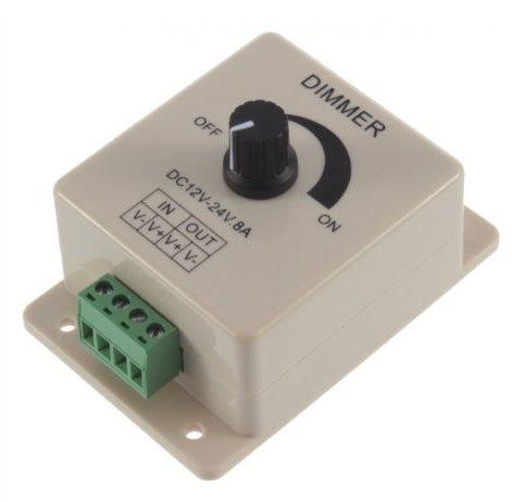 LED Light Dimmer DC 12-24V 8A