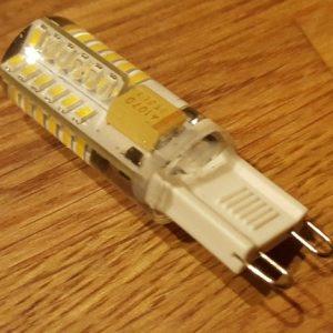 LED G9, 1,7W/12V - Varm/Hvid small profil