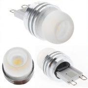LED G9, 1-2W/12V - Varm/Hvid