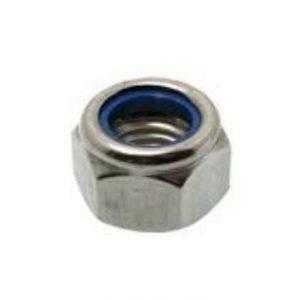 Låsemøtrik DIN 985 6-kant med nylonring