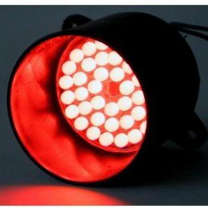 RØD LED lampe 12 V/DC til jagt